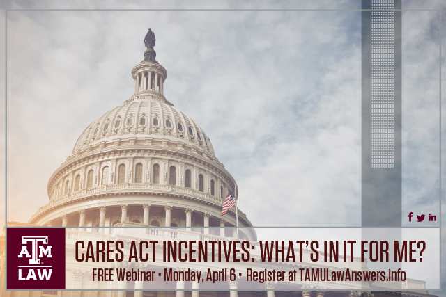 CARES Act Webinar 1 Incentives