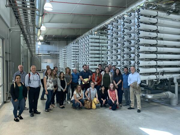 Students and water experts touring San Antonio Desal Plant